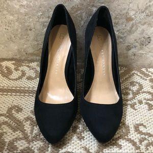 LC Lauren Conrad    Blossom Black Suede Heels